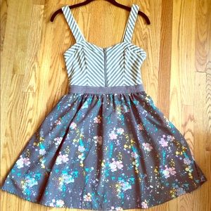 Urban Outfitters Stripped and Floral Summer Dress